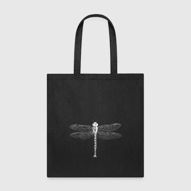 Dragonfly in white - Tote Bag