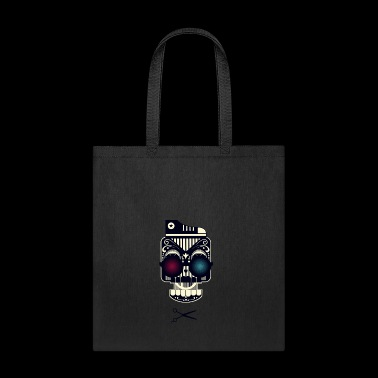 Skull with shoe glass and scissors dope - Tote Bag