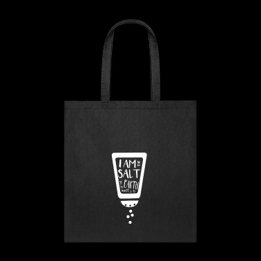 Matthew 5:13 I am the salt of the earth,Christian, - Tote Bag
