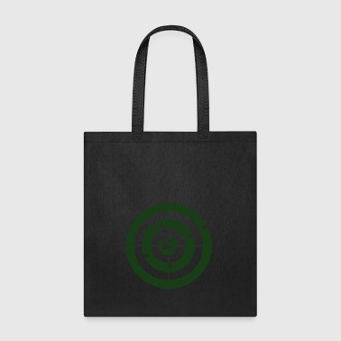 Bullseye Geometry Present Art Design Green - Tote Bag