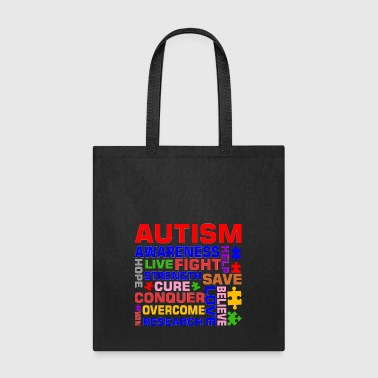 Autism Awareness Help Strength Cure Love Hope Win - Tote Bag