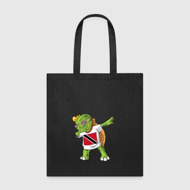 Trinidad and Tobago Dabbing Turtle - Tote Bag