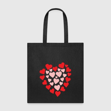 Hearts in a heart shape - Tote Bag