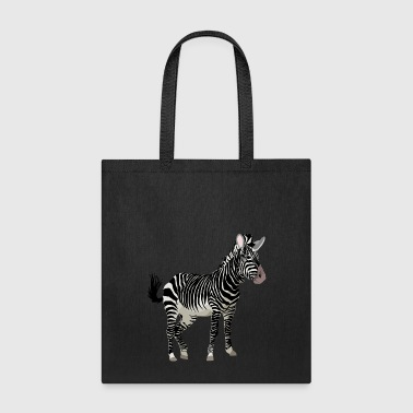 Africa Zebra with stripes in Safari - Tote Bag