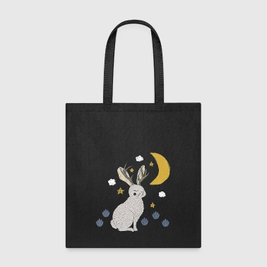 jackalope rabbit - Tote Bag