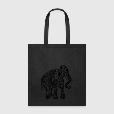 elephant skeleton - Tote Bag