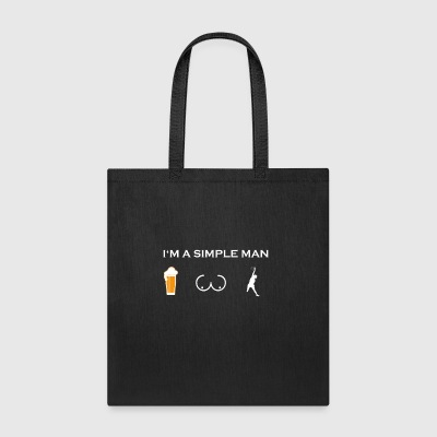simple man like boobs bier beer titten volleyball - Tote Bag