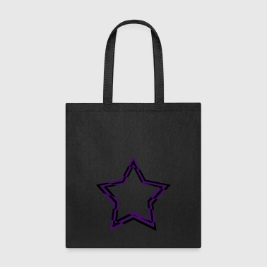 purple and black checkered star - Tote Bag