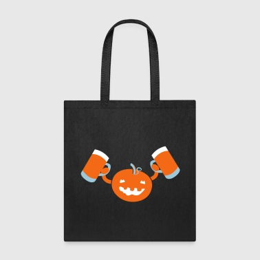 Pumpkin with beers funny Halloween drinking party - Tote Bag