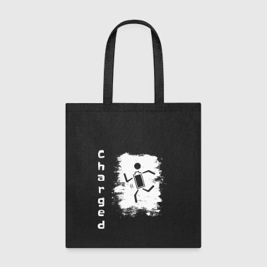 Smartphone Stick Figure battery charged funny gift - Tote Bag