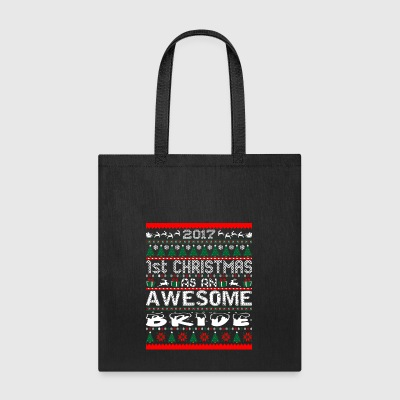 2017 First Christmas Awesome Bride Ugly Sweater - Tote Bag