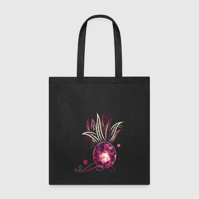 Trendy Pineapple tee. Summer shirt. Crystal glass. - Tote Bag