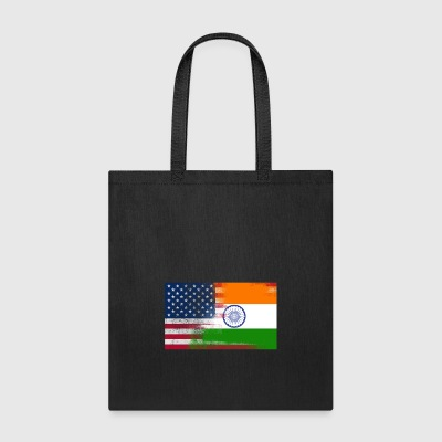 Indian American Half India Half America Flag - Tote Bag