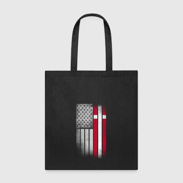 Danish American Flag - Tote Bag