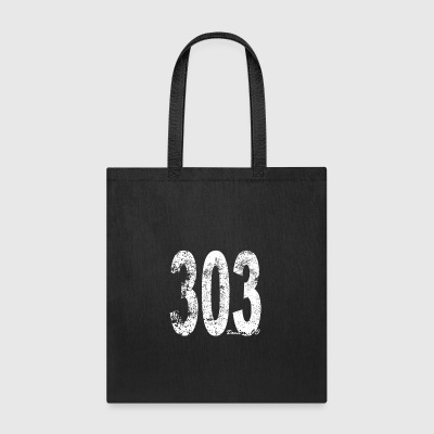 Vintage Denver Area Code 303 - Tote Bag