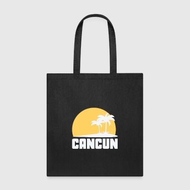 Cancun Mexico Sunset Palm Trees Beach - Tote Bag