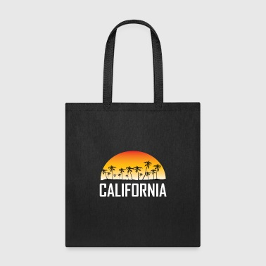 California Sunset And Palm Trees Beach Vacation - Tote Bag