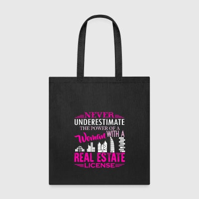 Real Estate License Shirt - Tote Bag