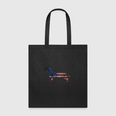 patriotic dachhund shirt - Tote Bag