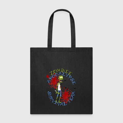 zombie apocalypse survival team - halloween shirt - Tote Bag