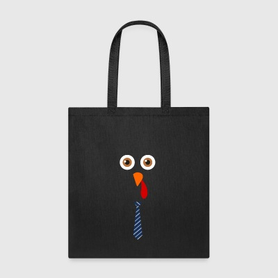 Turkey Face - Funny Thanksgiving Costume - Tote Bag