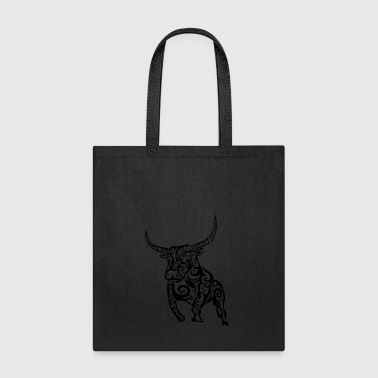 Tribal Bull Design - Tote Bag