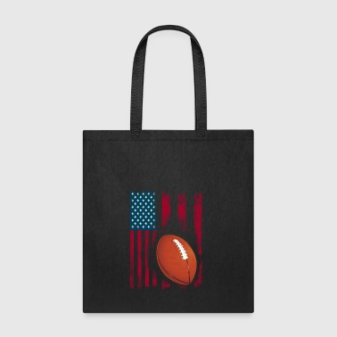 football american flag sport team club ball - Tote Bag