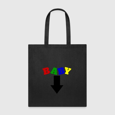 Baby (Arrow down) | Baby Shower Parties - Tote Bag
