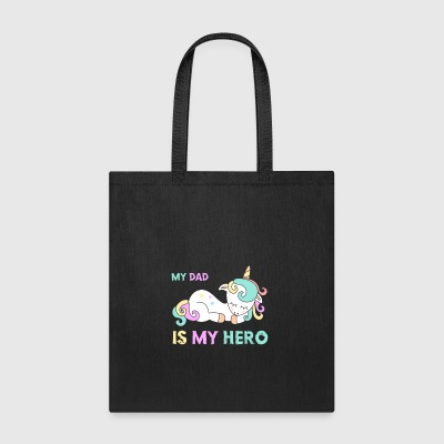 My Dad is my hero. Awesone lovely sleeping unicorn - Tote Bag