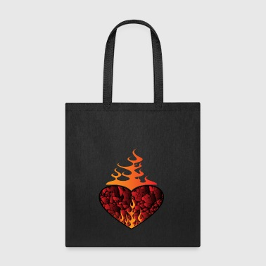 Burning Heart - Tote Bag