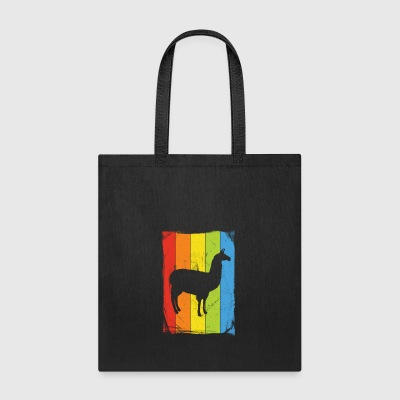 Rainbow Llama Distressed - Tote Bag