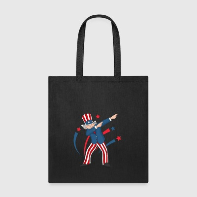 Funny Dabbing Uncle Sam T Shirt - Tote Bag