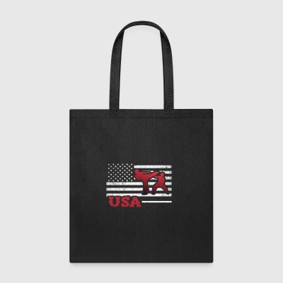 Tae Kwon Do American Flag Team Martial Arts Karat - Tote Bag