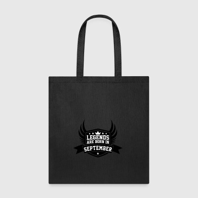 Legends Are Born in September | September Birthday - Tote Bag
