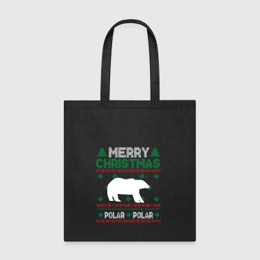 Cute Kids Polar Bear Ugly Christmas Tshirt - Tote Bag