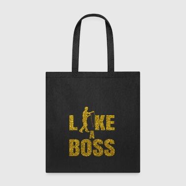 Rope Skip Pump Gold Glitter Quote - Like A Boss - Tote Bag