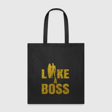 Surfer Gold Glitter Quote - Like A Boss Design - Tote Bag