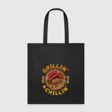 Grillin and Chillin BBQ Barbeque - Tote Bag
