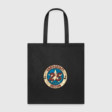 25th Birthday Anniversary gift present Vintage - Tote Bag