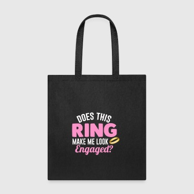 Engagement Tee For Boyfriend/Girlfriend. - Tote Bag
