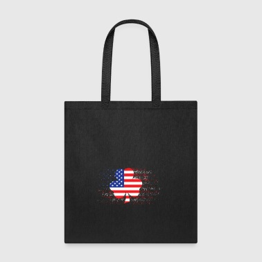 Clover American Flag - Tote Bag