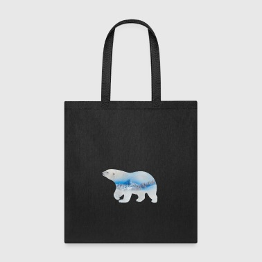 Polar Bear Double Exposure - Gift - Tote Bag