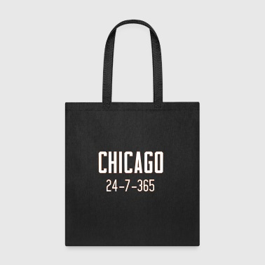 Chicago 24-7-365 Shirt - For Chicago Football Fans - Tote Bag