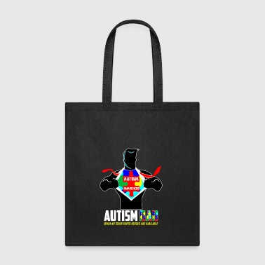 Autism Awareness Day Daddy Heroe AutisticT shirts - Tote Bag