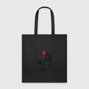 skull Bones Pirat blood Biker hell tatoo tribal - Tote Bag