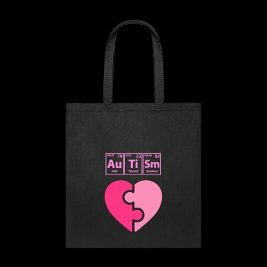 autism periodic table elements spelling girls funny shirts gifts tote bag - Periodic Table Autistic