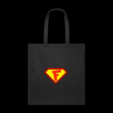 Superman personalized shirt for F name - Tote Bag