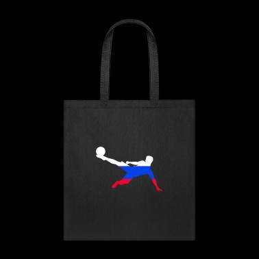 Russia Soccer Silhouette - World Flag Fanshirt - Tote Bag