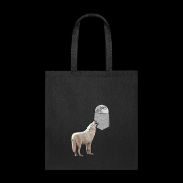 Wolf Howling To Moon In Your Fake Pocket Funny - Tote Bag