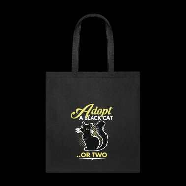 Adopt a black cat or two - Tote Bag